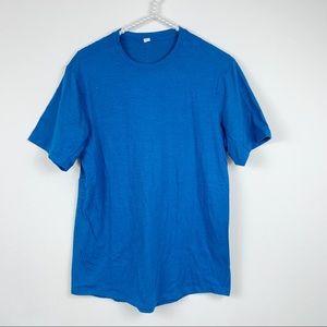 Lululemon Mens t-shirt M blue short sleeve